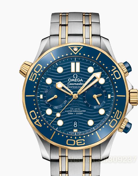 欧米茄海马300潜水系列黄金蓝盘鉴赏