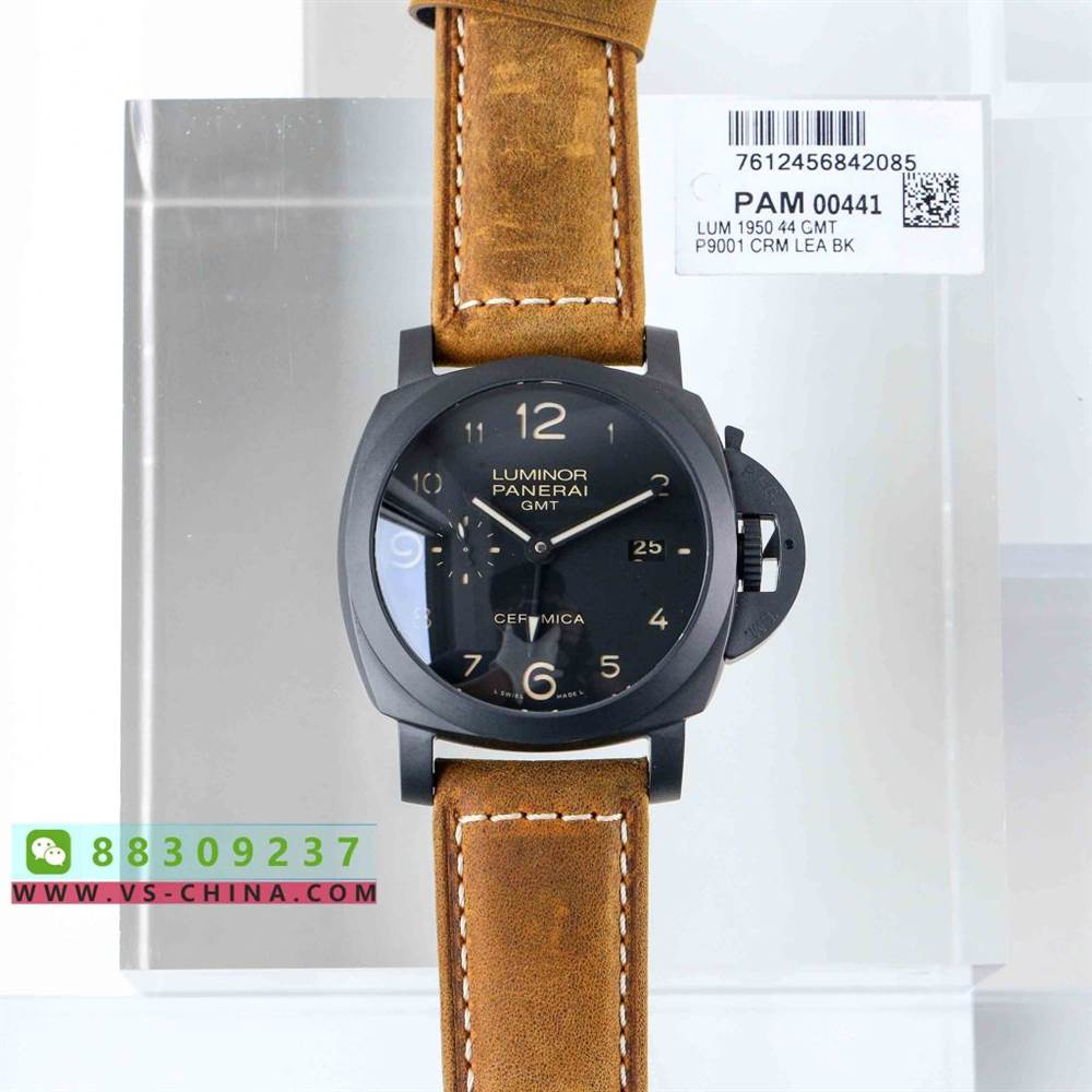 VS厂沛纳海441-VS沛纳海PAM441最新V2全陶瓷版P.9001机芯