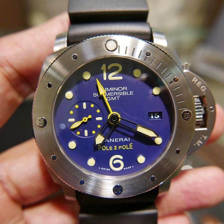 VS厂沛纳海PAM719「蓝盘钛合金」沛纳海719复刻腕表