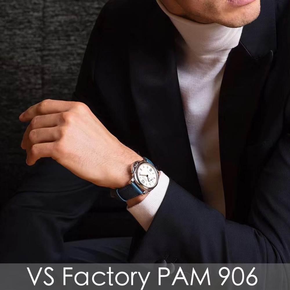 乳白盘面优雅之选-VS厂沛纳海PAM906男士腕表