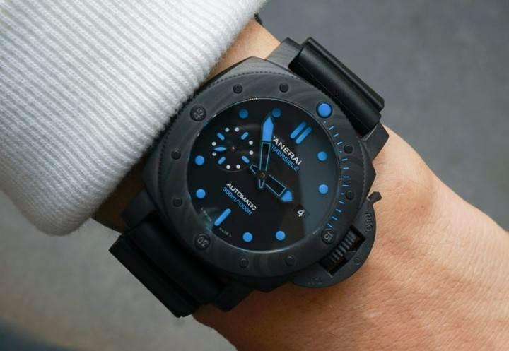钢铁侠同款VS厂沛纳海PAM1616硬汉风格碳纤维腕表