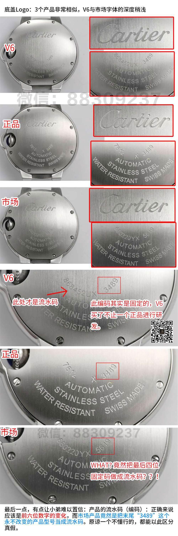 V6厂卡地亚33MM蓝气球「最新V7升级版」对比正品市面版本评测