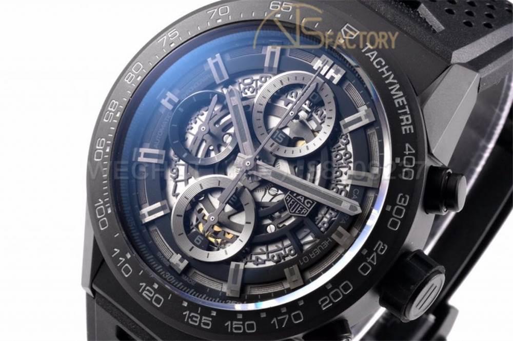 XF厂泰格豪雅卡莱拉「黑骑士」全新43mm陶瓷腕表