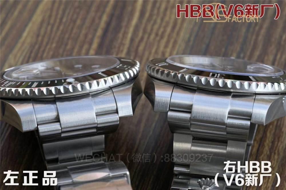 HBBV6厂劳力士黑水鬼对比原装正品评测