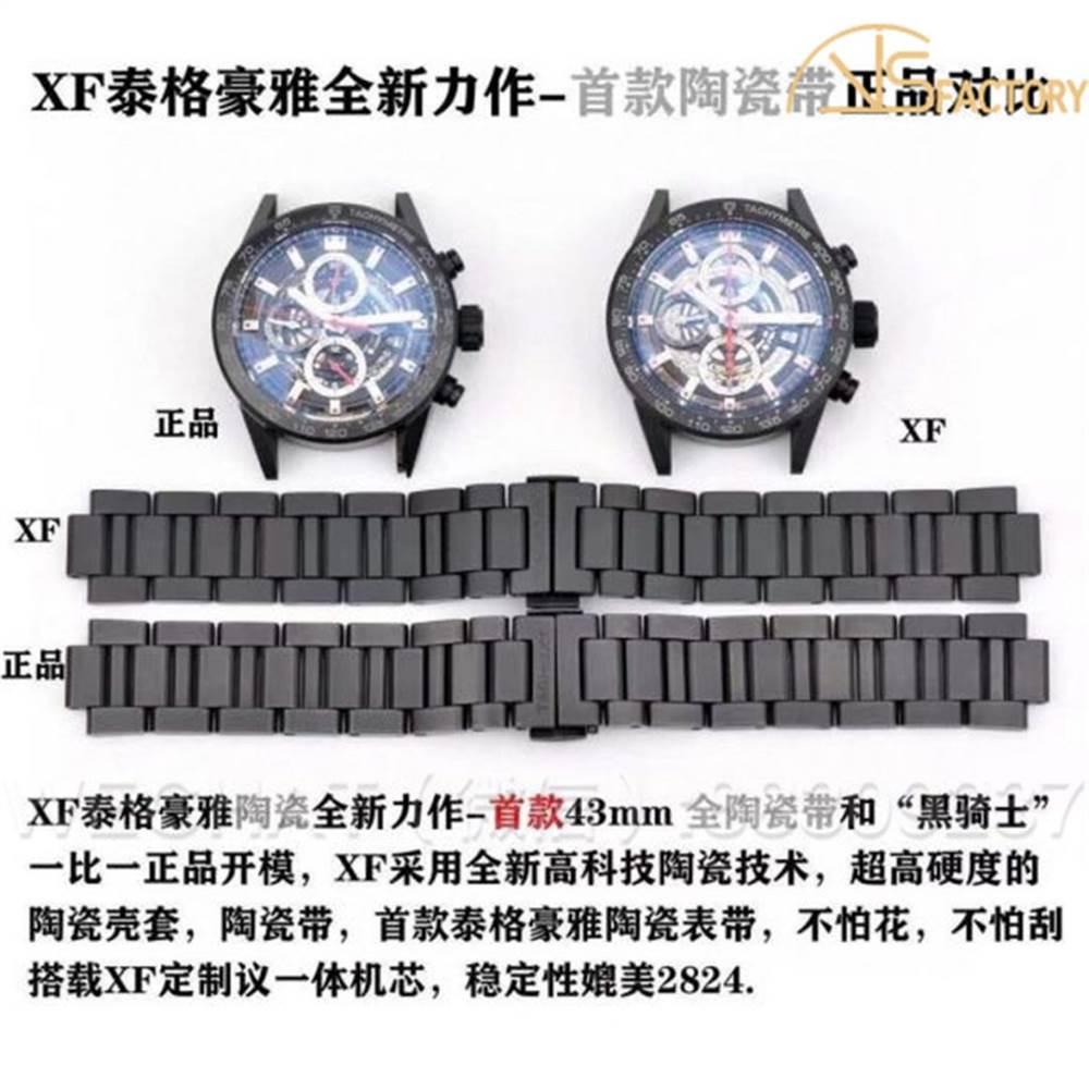 XF厂泰格豪雅陶瓷款黑骑士对比原装评测