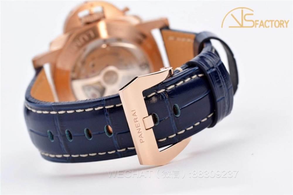 VS厂沛纳海1112「骚蓝盘」玫瑰金壳腕表做工评测