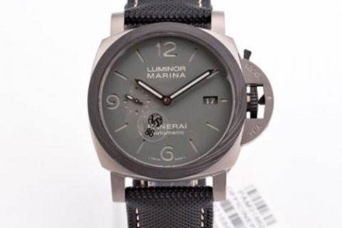 VS厂沛纳海PAM1662-VS厂沛纳海Luminor Marina 44MM 烟灰喷砂钛壳腕表