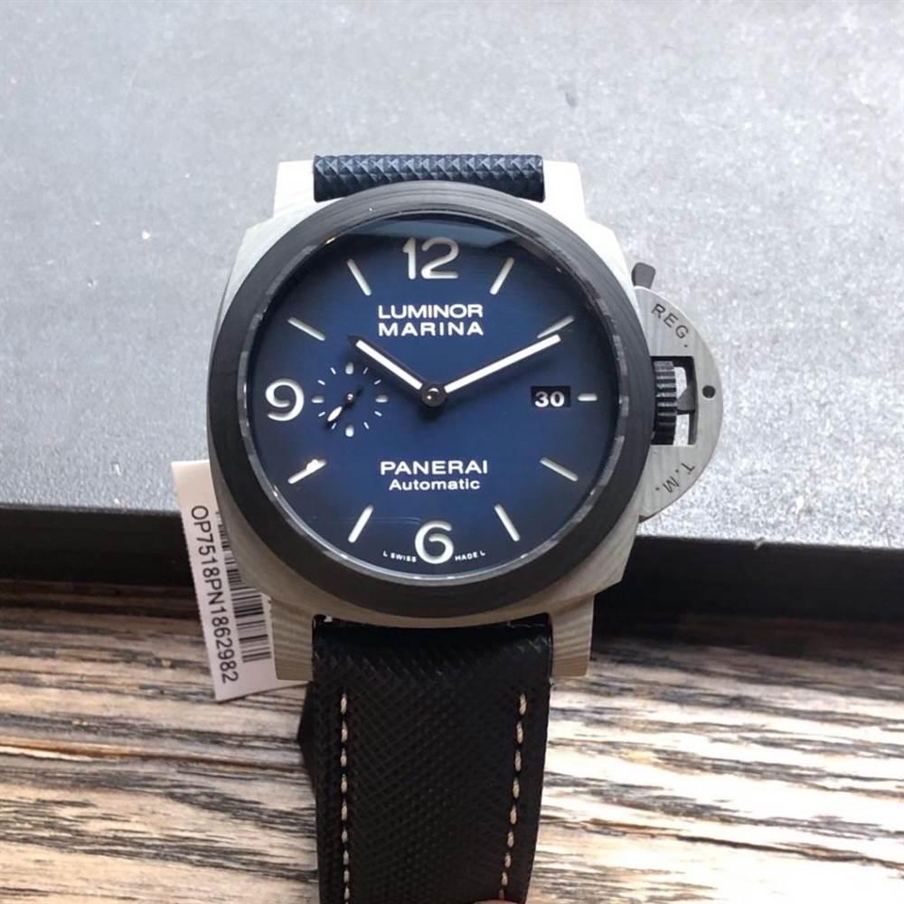 VS厂沛纳海1663「最新Fibratech—碳纤维」44MM渐变烟熏蓝盘腕表评测