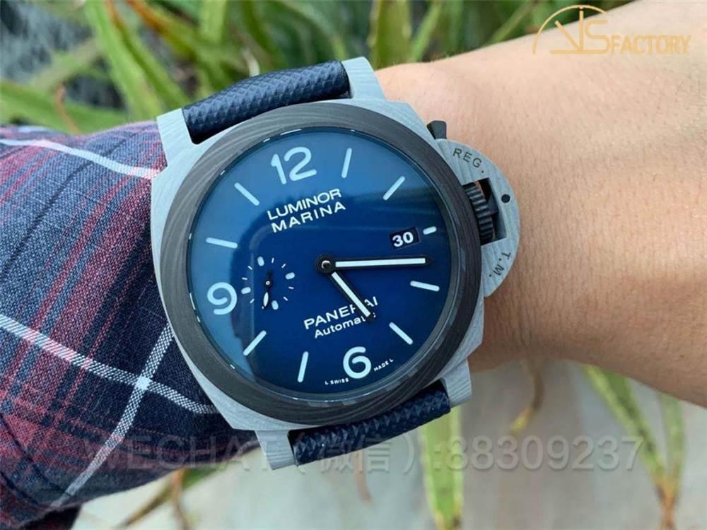 VS厂沛纳海1663「全新碳纤Fibratech渐变蓝」腕表评测-双十一现货实拍