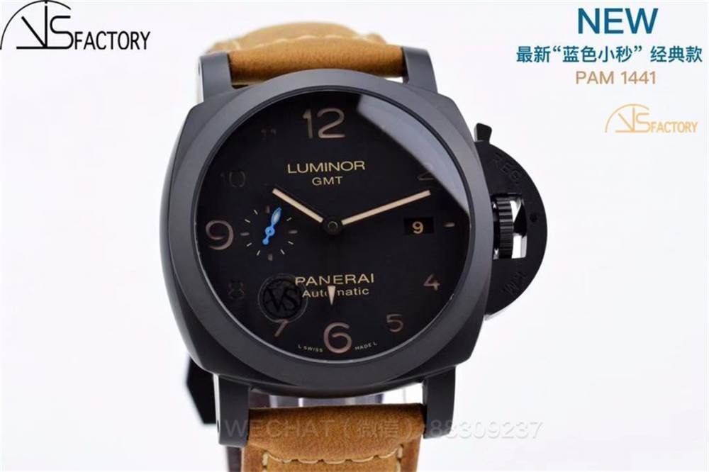 VS厂沛纳海1441「蓝色小秒针」最新44mm陶瓷腕表