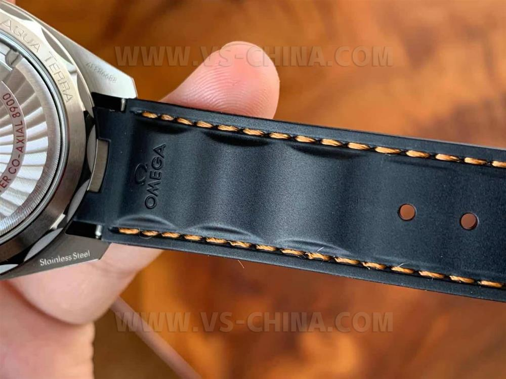 VS厂欧米茄海马150「柚木盘白橙」高级橡胶表带简约设计腕表评测